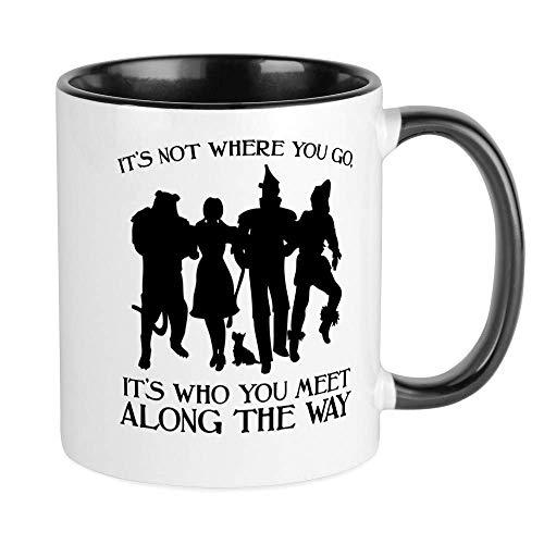 Taza de cerámica con el mago de Oz, taza de té de café de 11 oz, regalo