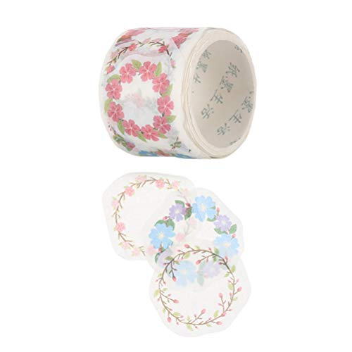 2 Roll Creative Flower Petal Washi Tape, Tape Decorative Decals, DIY Petal Stickers for Scrapbooking, Diary, Planner, 64 pcs/Roll