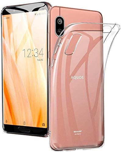 AQUOS sense3 lite SH-RM12 /AQUO sense3 SH-02M / SHV45 /Android One S7 ケース クリアケース カバー TPU ストラップホール付属 ハンドストラップ&ネックストラップ付 透明 全面保護 TPUソフトシリコン 超薄型TPUケース 耐衝撃 一体型 人気 メッキ加工 高品質アンチグレアTPU素材を使用した耐水、防指紋、散熱加工の超薄型、最軽量【無条件無料で交換が付与されます】 透明 クリア ケース (A6, Sense3 Lite)