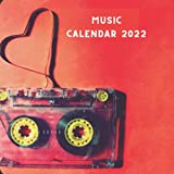 Music 2022 Calendar: Music Lover Gift Idea - 12 Month Calendar (January 2022 - December 2022) Monthly Planner With A Picture For Every Month