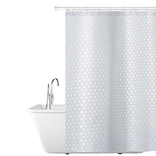 Tatkraft Purl Duschvorhang, Polyester, weiß, 180X180
