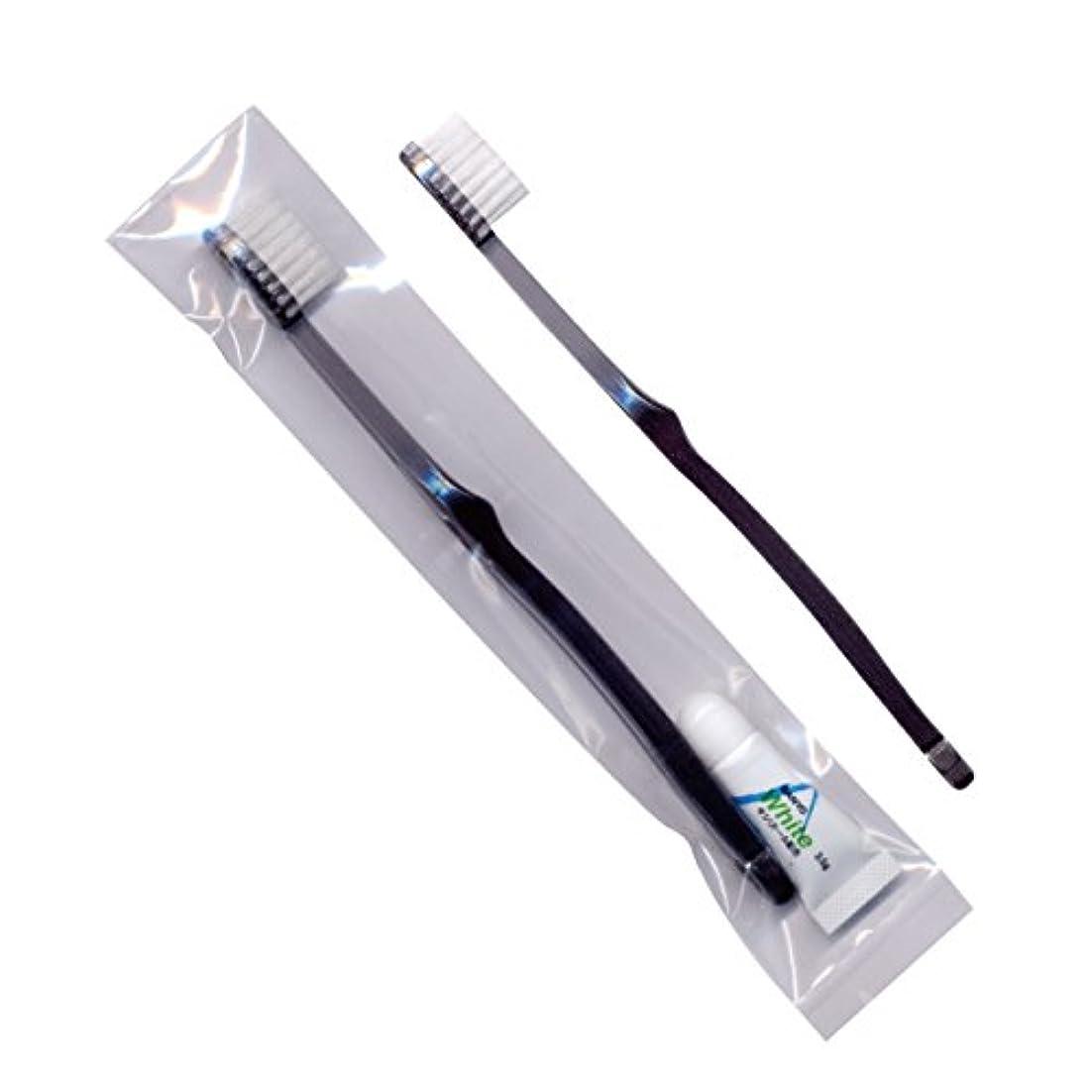 つぼみ揃えるゼロホテル業務用歯ブラシ28穴(スモーク)3.5gチューブ OP袋 250本