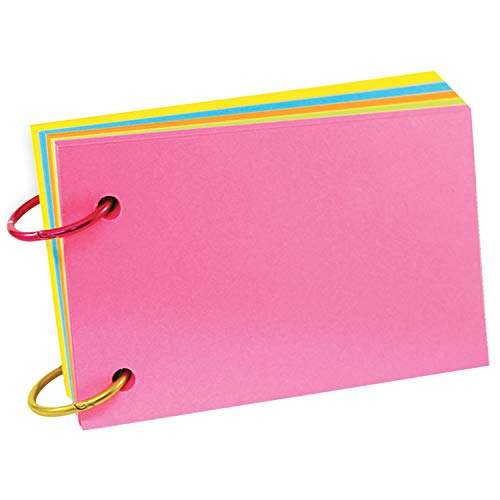 Top Notch Teacher Products TOP3672 Ring Notes, Blank, Assorted Bright Colors, 3