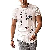 Camisetas con Estampado de Poker A para Hombre Camisetas Personalizadas de Manga Corta con Cuello Redondo y Estampado de Avatar Poker