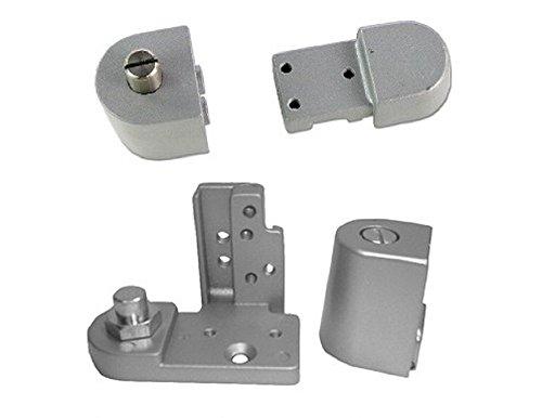Pacific Doorware Kawneer Style TOP & Bottom Pivot Hinge Set for Commercial Adams Rite Type Storefront Door, Choose Handing & Finish (Right Hand in Aluminum)
