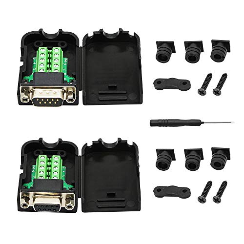CERRXIAN DB9 Adaptador RS-232 Serial Interface DB9 macho y DB9 hembra conector...