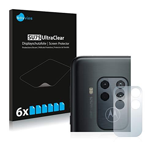 Savvies 6X Schutzfolie kompatibel mit Motorola One Zoom (NUR Kamera) Bildschirmschutz-Folie Ultra-transparent
