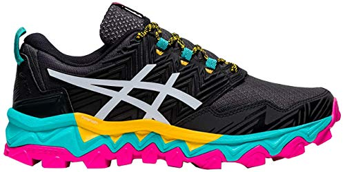 ASICS Gel-Fujitrabuco 8, Zapatillas de Running para Mujer, Negro y Blanco, 37 EU