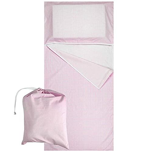 Saco de dormir de verano para niños y niñas de 2 a 6 años para dormir y siesta – Tejido 100% algodón – Fabricado en Italia