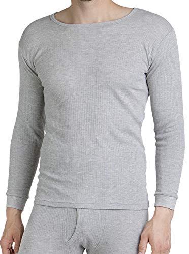 foolonli Thermohemd Herren Langarm Unterhemd Grau Größe 8/XXL