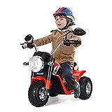 GOPLUS Moto Electrique pour Enfants 6V 4,5Ah, Moto à Batteries 3 Roues, Véhicule Electrique pour Enfant 36-95 Mois, Vitesse 3-4km/h, Capacité de Charge 20KG (Rouge)