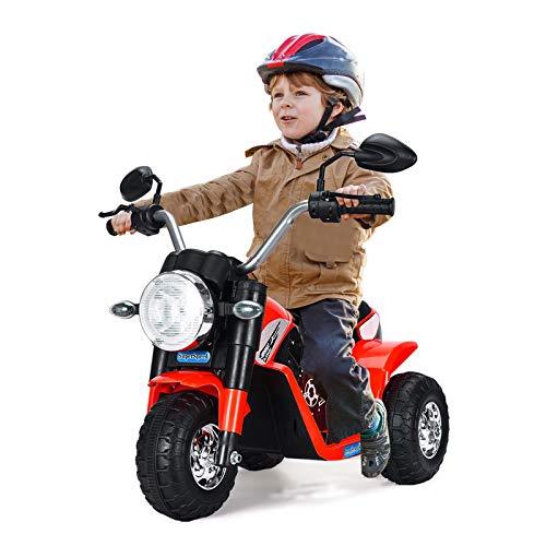 GOPLUS Moto Electrique pour Enfants 6V 4,5Ah, Moto à Batteri