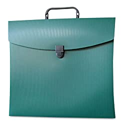 Aurora Products 10114 - File N Go Portable File Box Letter Green-AUA10114