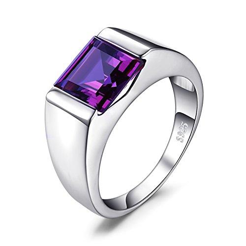 JewelryPalace 3.4ct Gentleman&Prinz Lila-Blau Synthetisch Alexandrite Saphir Herren Ringe 925 Sterling Silber