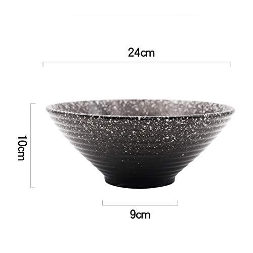 N / A JDSWLSchüssel 9 Zoll Keramikschale Im Japanischen Stil Ramenschale Große Schüssel Suppenschüssel Dosa Schüssel Nudelschale Salat Instant-Nudelschale