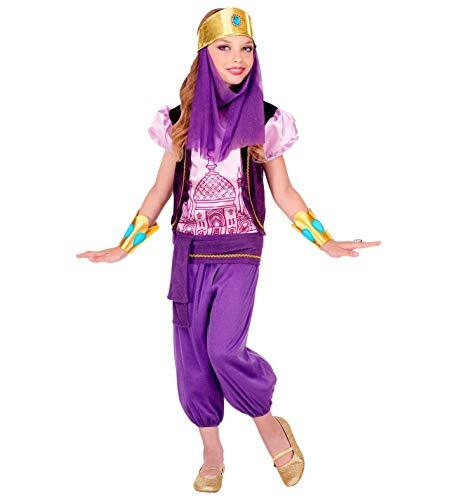 shoperama 5-teiliges Mädchen Kostüm Arabische Prinzessin Lila Jasmin Jeannie Orient 1001 Nacht Aladdin Sindbad, Größe:158 - 11 bis 13 Jahre
