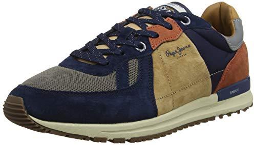 Pepe Jeans London Herren Tinker PRO 19 Woodland Sneaker, Blau (Navy 595), 44 EU