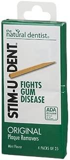 Stim-U-Dent Stim-U-Dent Plaque Removers Mint, Mint 100 each (Pack of 4) by Natural Dentist