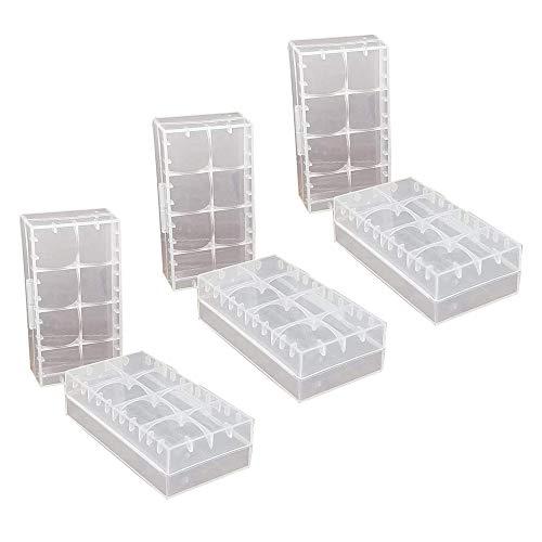 GTIWUNG 6 Pcs 18650/18350/CR123A/17670 Caja de Almacenamiento de batería de celda Caja, Caja de batería de plástico para baterías y baterías Recargables, Caja de Almacenamiento de batería de