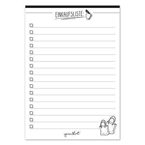 3er Set Einkaufsliste Notizblöcke I DIN A6 I 50 Blatt I Einkaufsblöcke mit Vordruck für die Küche Handtasche Auto I Organizer aus Papier zum Abreißen I dv_905