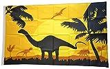 Flaggenfritze® Flagge/Fahne Dinosaurier Landschaft - 90 x 150 cm