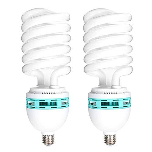 Lampadina a spirale fluorescente compatta a risparmio energetico, 2 x 125 W, 220 V, 5400 K, luce diurna CFL, attacco E27, per illuminazione studio fotografico