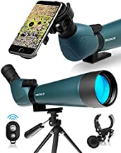 CREATIVE XP HD 2021 Spotting Scope with Tripod 20-60x80mm - BAK 4 Prism Spotting Scopes for Target Shooting Hunting Astronomy Bird Watching - 100% Waterproof Shockproof IP67 - Phone Adapter