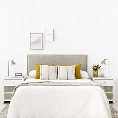 Diseño con Encanto: cabecero tapizado con un diseño sencillo de líneas rectas con tachuelas, detalle que lo hace único Gran calidad: producto fabricado en España, tapizado nido de alta calidad Uso/ Tamaño: para cama de 150: 165x3x52cm(AnchoxFondoxAlt...