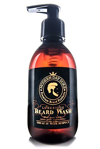 Shampoo barba detergente morbido - Modern Day Duke Sapone per il lavaggio della barba di lusso, XL 200ml - contenente Aloe, Cedarwood e Lime