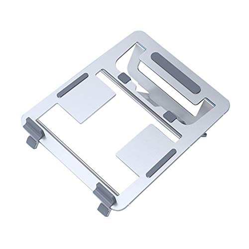 Elevador Ajustable para Computadora Portátil Ergonómico Plegable Soporte para Computadora Portátil De Escritorio Soporte para Portátil De Aleación De Aluminio para Casa Oficina