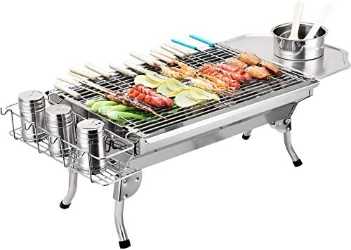A-hyt Barbecue Grill Super Genuine Free Shipping beauty product restock quality top Stainless Mini Steel Barb Outside