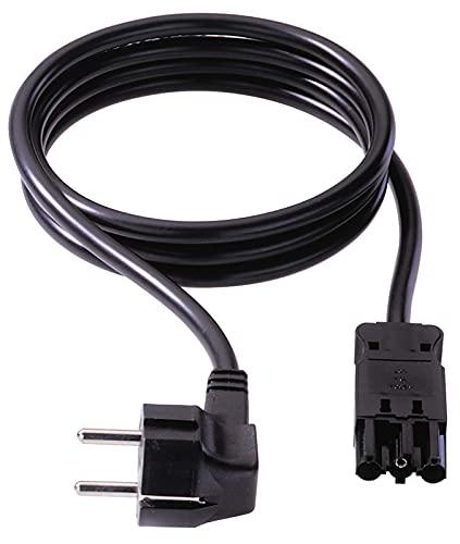 Bachmann 375.003 Gerätezuleitung Schuko GST18, 3 m schwarz