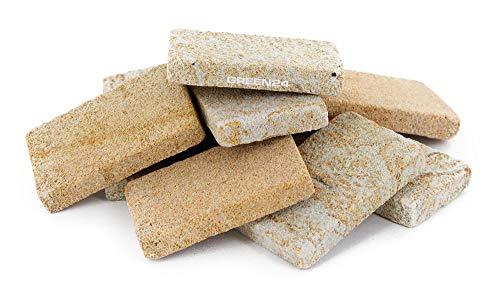 GREEN24 10 Stck. Mini Sandstein Platten 40x25x6mm für Miniaturgarten, echter Naturstein, Terrassen-Platten Sandstein Natursteinplatten