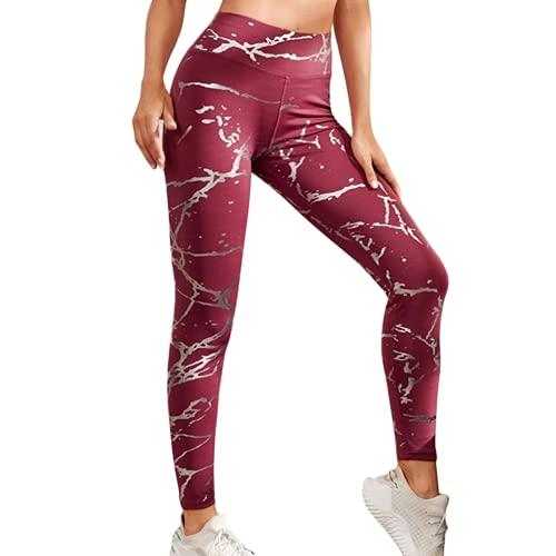 QTJY Pantalones de Yoga de Fitness para Mujeres Suaves sin Costuras, Medias de Levantamiento de Cadera de Cintura Alta, Flexiones, Pantalones de Entrenamiento de Celulitis A XL