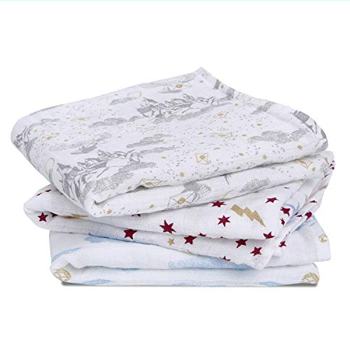 aden + anais 100% Cotton Muslin Musy Squares, Multi-use Baby Cloths for...