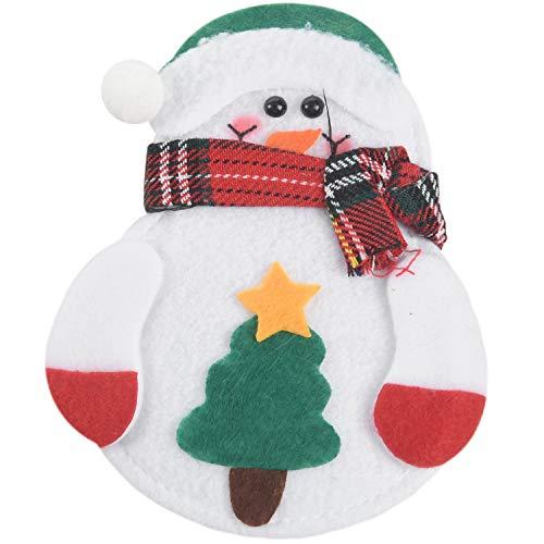 Baalaa 8 unids cubiertos titular muñeco de nieve/Santa Clause/Alce Navidad cubiertos titular bolsillo navidad/cuchillo vajilla vajilla
