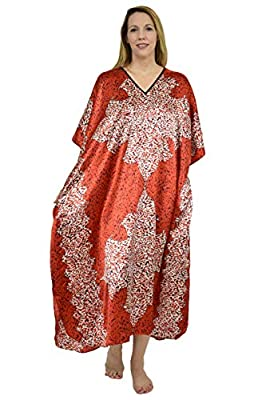 Up2date Fashion Women's Animal Arabesque Print Caftan, One Size, Style#Caf-18 by