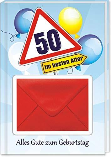 AV Andrea Verlag Alles Gute zum 50. Geburtstag Geldgeschenk Buch Piccolo mit Blattgold Kräuterlikör Schnäpse Zollstock Geldgeschenk für Männer und Frauen als Geburtstagsgeschenk (Alles Gute 50)