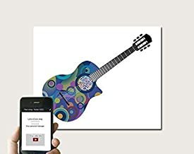 Guitar QR Art for Any Song Any Guitar Artist, Personalized Geek First Paper Anniversary Gift, 2nd Cotton Anniversary for Husband, Gifts for Guitar Player Music Lover, Last Minute Gift idea, Print Only