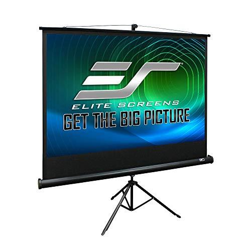 Elite Screens Tripod Series, 84-INCH 4:3, Adjustable Multi Aspect Ratio Portable Indoor Outdoor Projector Screen, 8K / 4K Ultra HD 3D Ready, 2-Year Warranty, T84UWV1, Black