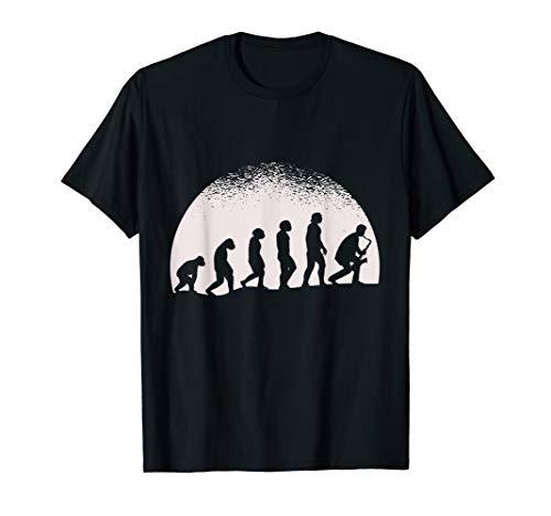 Evolution Saxophon T-Shirt Musik Jazz Musiker Geschenk