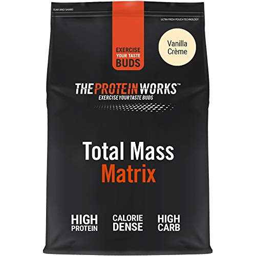 THE PROTEIN WORKS Total Mass Matrix | Mass Gainer | Calorie Dense Weight Gainer | Protein Powder | Vanilla Crème | 5 Kg