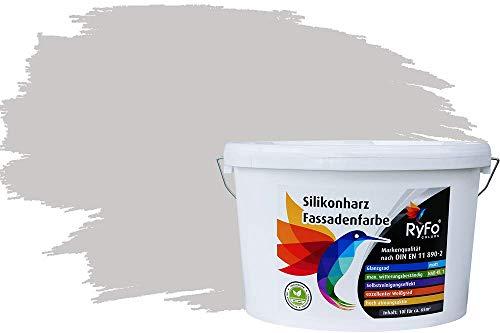 mächtig Lotus Effekt Trend Hellgrau 10l RyFo Farben Silikonfarbe für Fassade – Farbe Fassadenfarbe,…