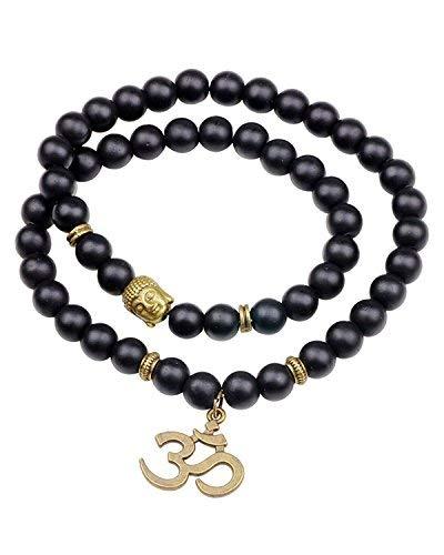 Desconocido SataanReaper Presents Collar De Buda Meditationcharm Negro Onyx Piedra Divina Yoga/Pulsera para Hombres Y Mujeres #SR-733