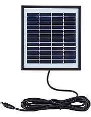 Mikrokos Panel Solar Panel Solar Cargador de Panel Solar Cargador Solar portátil 2W 12V Panel Solar Multifuncional Tablero de Carga de polisilicio con Borde para Acampar al Aire Libre
