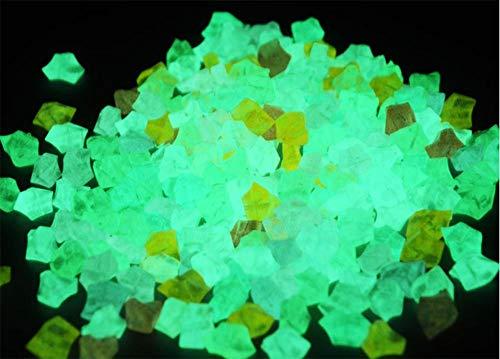 ZLDFAN Piedra luminiscente Azul Piedra Fluorescente Decorativa Artificial no Necesita Electricidad para...