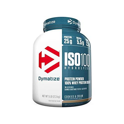 Dymatize ISO 100 Hydrolyzed Whey Protein Isolate, Fudge Brownie, 1.6lbs