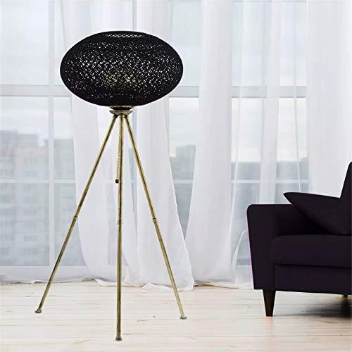 CuteLife Lámpara de Piso Lámpara de Piso de diseño Especial Moderno Iluminación Estilo de Lujo Sala de Estar Área de Trabajo para Sala de Estudio de Oficina (Color : Black, Size : 138x35cm)