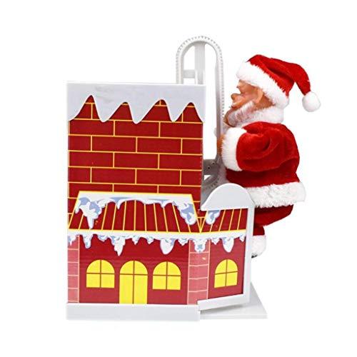 JIAL Santa Claus Puppe Schlitten Spielzeug Universal Elektroauto mit Musik Kinder Kinder Weihnachten Elektro Spielzeug Puppe Home Weihnachten Dekor Geschenke Chongxiang