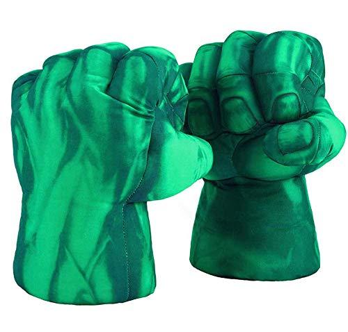 Valeny 1 Paar Hulk Boxhandschuhe, Hulk Handschuhe Super Hero Smash Hände Weiche Plüschhandschuhe Fäuste Cosplay Kostüm Spielzeug Fäuste für Kinder Geburtstag Weihnachten Lustig